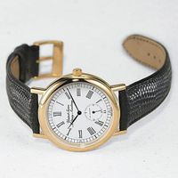 West Point Men's Classic Watch with Leather Strap Image-1 Thumbnail