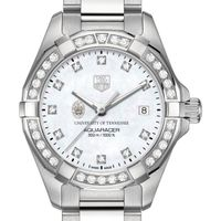 Tennessee Women's TAG Heuer Steel Aquaracer with MOP Diamond Dial & Diamond Bezel