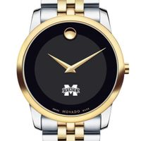 Mississippi State Men's Movado Two-Tone Museum Classic Bracelet