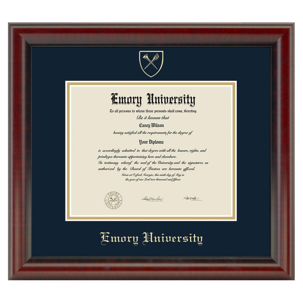 Emory Fidelitas Diploma Frame