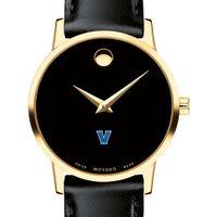 Villanova University Women's Movado Gold Museum Classic Leather