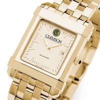 Clemson Men's Gold Quad Watch with Bracelet
