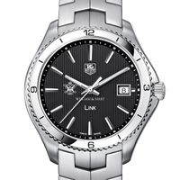 William & Mary TAG Heuer Men's Link Watch with Black Dial