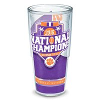 Clemson 24 oz. Tervis Tumblers - Set of 4- Championship Edition