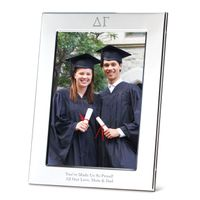 Delta Gamma Polished Pewter 5x7 Picture Frame Image-1 Thumbnail