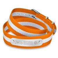 Clemson Double Wrap NATO ID Bracelet- Championship Edition