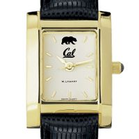 Berkeley Women's Gold Quad with Leather Strap