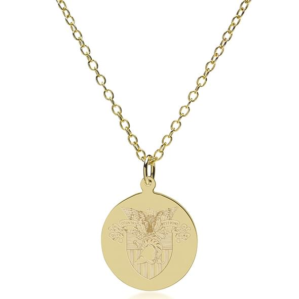 West Point 14K Gold Pendant & Chain