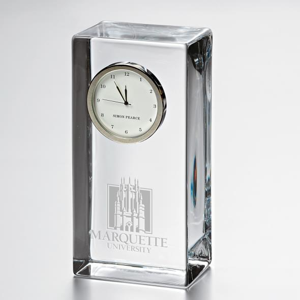 Marquette Tall Class Desk Clock by Simon Pearce