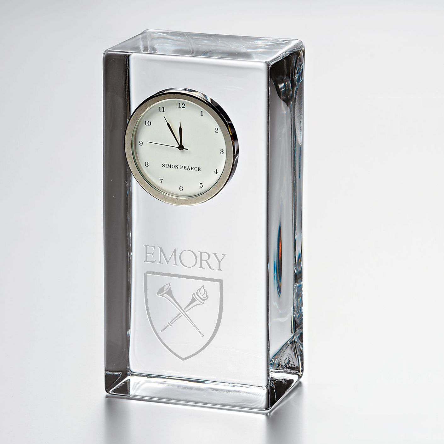 Emory Tall Desk Clock by Simon Pearce