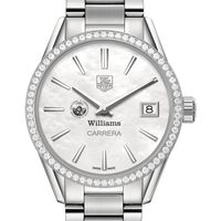 Williams College Women's TAG Heuer Steel Carrera with MOP Dial & Diamond Bezel