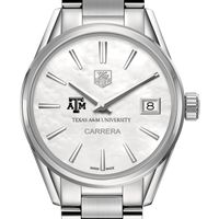Texas A&M Women's TAG Heuer Steel Carrera with MOP Dial