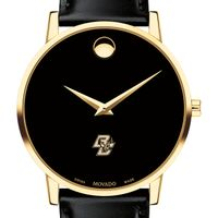 Boston College Men's Movado Gold Museum Classic Leather