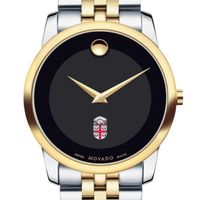 Brown Men's Movado Two-Tone Museum Classic Bracelet