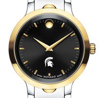 Michigan State Men's Movado Luno Sport Two-Tone