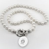Coast Guard Academy Pearl Necklace with Sterling Silver Charm