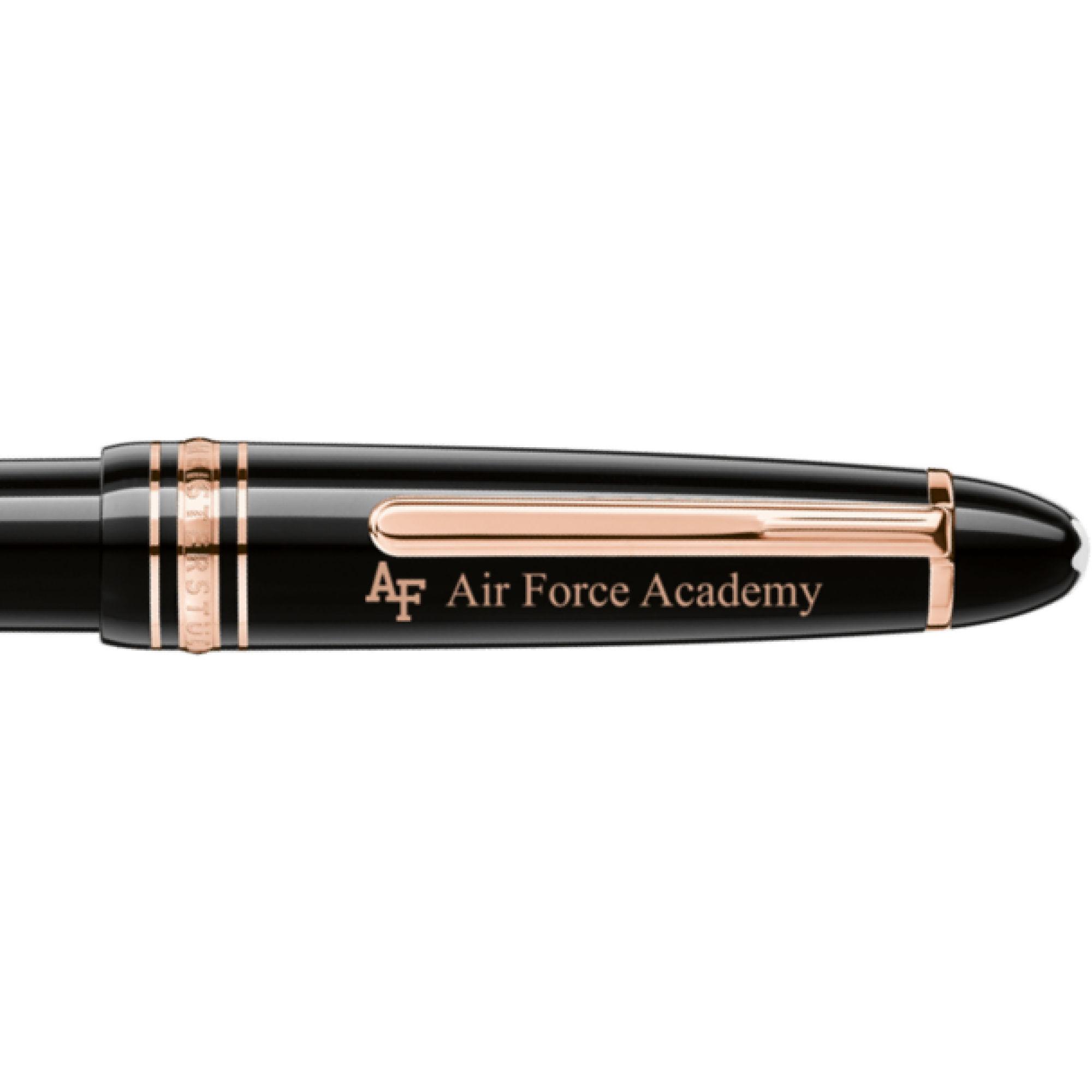 US Air Force Academy Montblanc Meisterstück LeGrand Ballpoint Pen in Red Gold