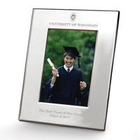 Wisconsin Polished Pewter 4x6 Picture Frame