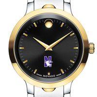 Northwestern Men's Movado Luno Sport Two-Tone