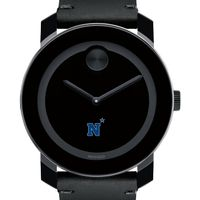 USNA Men's Movado BOLD with Leather Strap