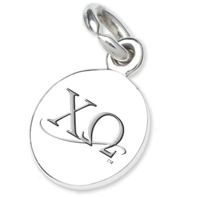 Chi Omega Sterling Silver Charm