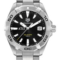 Alpha Tau Omega Men's TAG Heuer Steel Aquaracer with Black Dial Image-1 Thumbnail