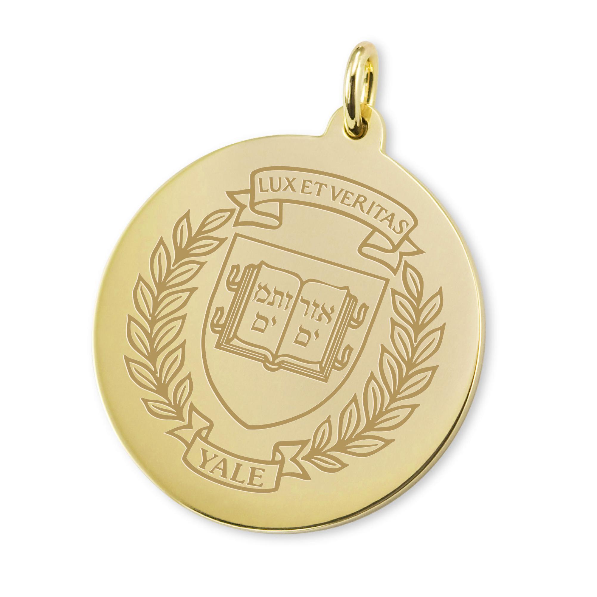 Yale 14K Gold Charm