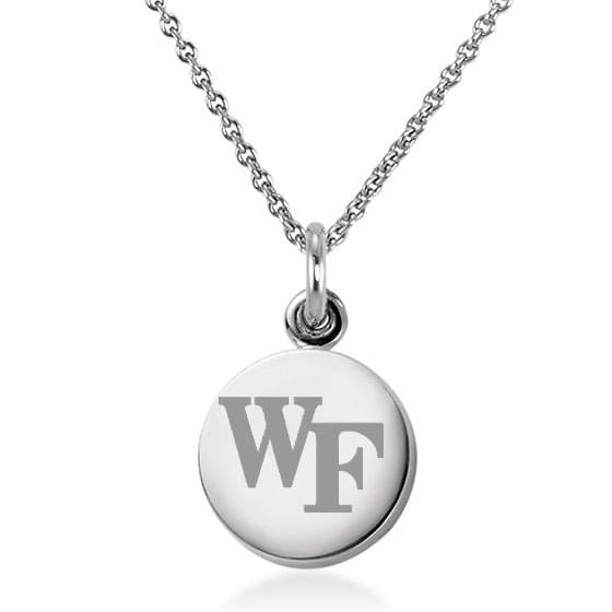 Wake Forest Sterling Silver Necklace with Silver Charm