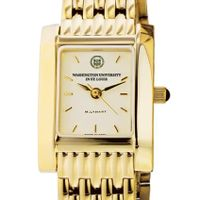 WUSTL Women's Gold Quad Watch with Bracelet
