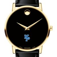 Merchant Marine Academy Men's Movado Gold Museum Classic Leather