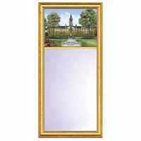 Princeton Eglomise Mirror with Gold Frame