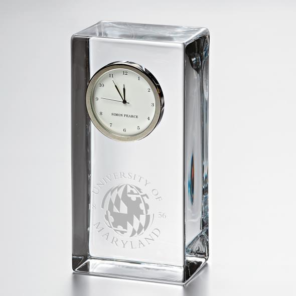 Maryland Tall Glass Desk Clock by Simon Pearce