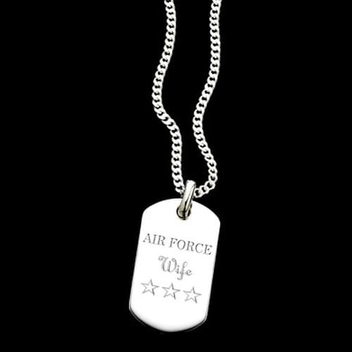 Air Force Academy Women's Sterling Silver Dog Tag Necklace