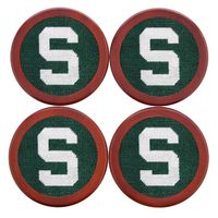 Michigan State Needlepoint Coasters