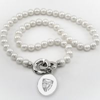 Johns Hopkins Pearl Necklace with Sterling Silver Charm