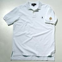 Naval Academy Ralph Lauren Polo Shirt - White with USNA Insignia