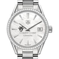West Point Women's TAG Heuer Steel Carrera with MOP Dial & Diamond Bezel