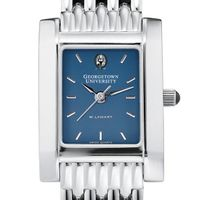 Georgetown Women's Blue Quad Watch with Bracelet