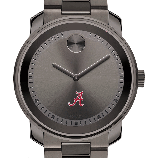 Alabama Men's Movado BOLD Gunmetal Grey