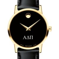 Alpha Delta Pi Women's Movado Gold Museum Classic Leather Image-1 Thumbnail
