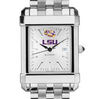 LSU Men's Collegiate Watch w/ Bracelet