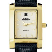 NC State Women's Gold Quad with Leather Strap