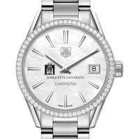 Marquette Women's TAG Heuer Steel Carrera with MOP Dial & Diamond Bezel