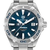 Georgia Men's TAG Heuer Steel Aquaracer with Blue Dial