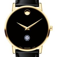 US Naval Institute Men's Movado Gold Museum Classic Leather