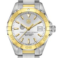 TCU Women's TAG Heuer Two-Tone Aquaracer
