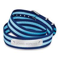 Johns Hopkins University Double Wrap NATO ID Bracelet