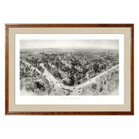 Historic Harvard University Black and White Print