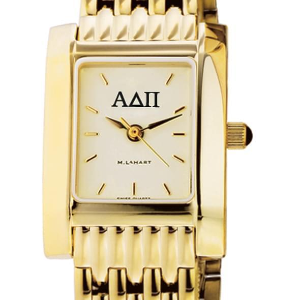 ADPi Women's Gold Quad Watch with Bracelet