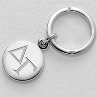 Delta Gamma Sterling Silver Insignia Key Ring Image-1 Thumbnail